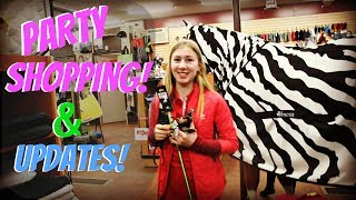 HORSEY BIRTHDAY PARTY SHOPPING  AND BUYING A FARM UPDATE! Day 104 (04/14/18)