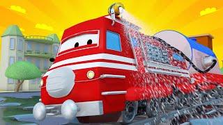 Vláčky pro děti - Dezinfekční vlak - Vláček Troy ve Městě Aut