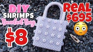 DIY SHRIMPS PEARL BAG PT 1 ENGLISH || SHRIMPS PEARL BAG || SHRIMPS BEADED BAG || MSS WINNIE