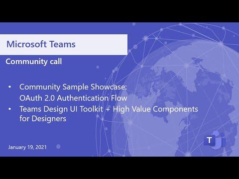 Microsoft Teamscommunitycall-January19, 2020