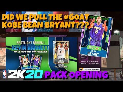 NBA 2K20 KEVIN GARNETT SPOTLIGHT SERIES 1 DID WE PULL KOBE BRYANT THE GOAT???