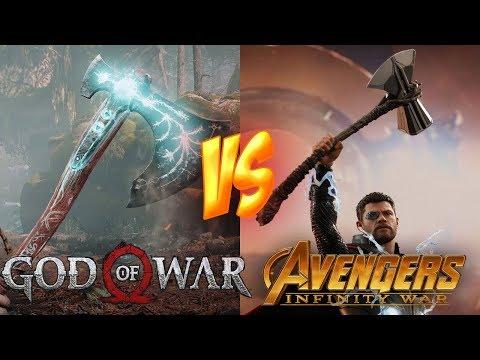 Hacha Leviathan VS Stormbreaker, ¿Tienen el mismo poder? (God of War 4) Infinity War y Kratos