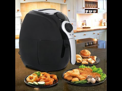 SUPER DEAL Deep Air Fryer Cooker 3.7 Quart Comes With Recipes