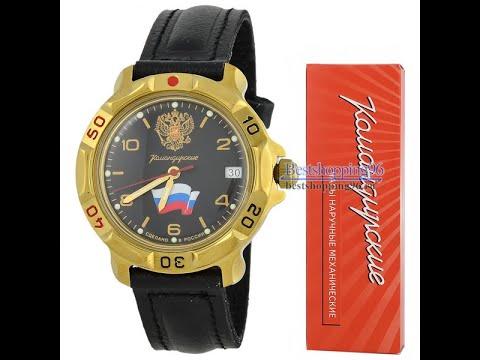Видео обзор механических часов Восток Командирские 2414 (819453)