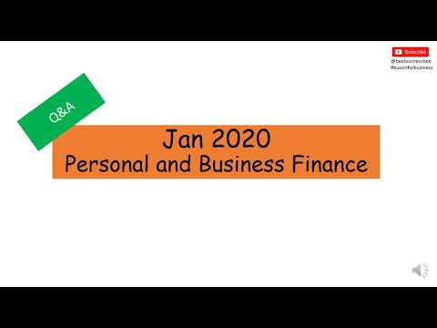 Personal and Business Finance - Exam Paper Review Jan 2020 ...