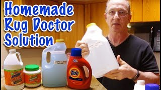 Homemade Carpet Cleaner/ Rug Doctor Copycat Solution from Dollar Store