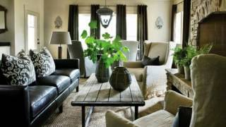 Black Leather Couch Living Room