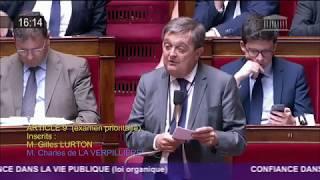 Je suis intervenu contre la suppression de la réserve Parlementaire décidée par la Majorité dans le