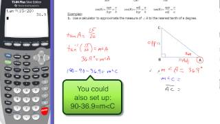 7-7 Solving Right Triangles Ex 1 And 2