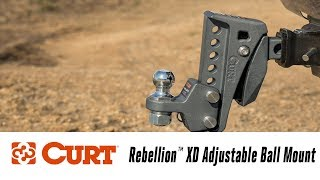 In the Garage™ with Total Truck Centers™: CURT Rebellion™ XD Adjustable Ball Mount
