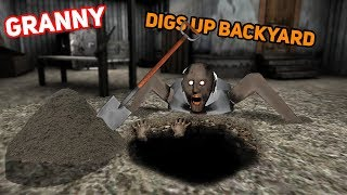 Granny Digs Up THE ENTIRE BACKYARD!!! (Secret Hidden Item) | Granny The Mobile Horror Game (Story)