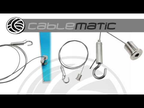 Kit montaje panel LED colgante-4 distribuido por CABLEMATIC ®