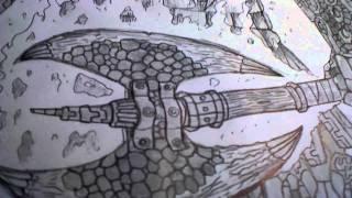 The Four Horsemen-WAR drawing
