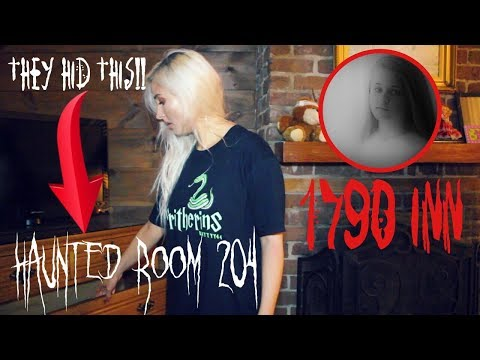 ALONE overnight at Haunted 1790 Inn.. and found this