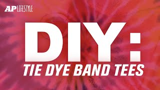 HOW TO: Tie-dye Your Band T-shirts!