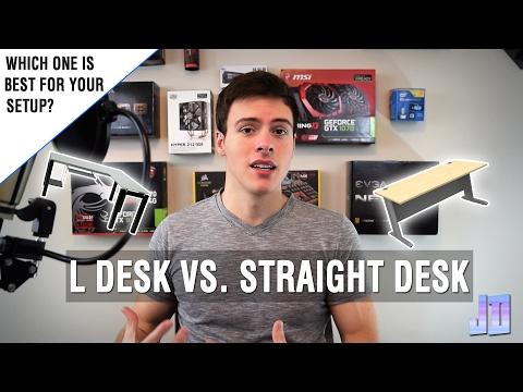 What Desk is Best for Your Setup? L Desk VS Straight Desk - Setup Guide