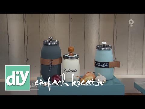 Zwiebel-Aufbewahrung im Glas | DIY einfach kreativ