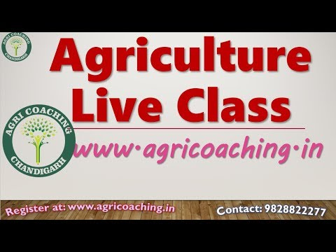 Agriculture Live Class by D. K. Wadhwa Sir