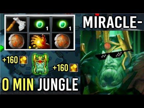 NEW Fast Farm JUNGLE x2 Shield Miracle- Wraith King 7.21 Farming Style Immortal Gameplay Dota 2