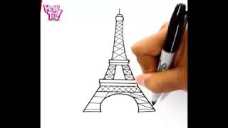 How To Draw The Eiffel Tower SPECIAL EASY
