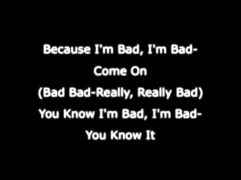 Michael Jackson - Bad - Lyrics