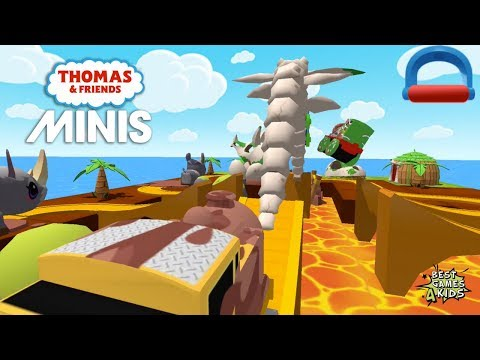 Thomas & Friends Minis #190 | Venture to the lost JURASSIC DINO LAND! By Budge Studios
