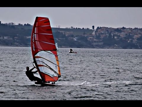 Light wind windsurfing with Gun Sails GSR 9.5