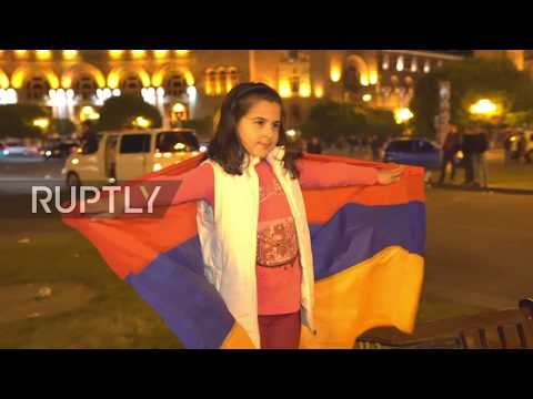 Armenia: Thousands rally in Yerevan after PM Sargsyan's resignation