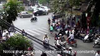 Hanoi's Kaotiske Traffik