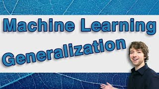 Machine Learning and Predictive Analytics - Generalization (Algorithms) - #MachineLearning