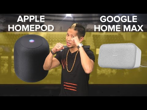 Apple HomePod vs. Google Home Max (Prizefight)