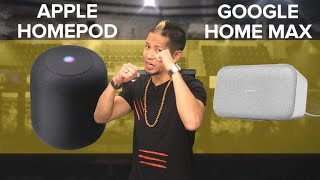 Apple HomePod vs. Google Home Max (Prizefight)