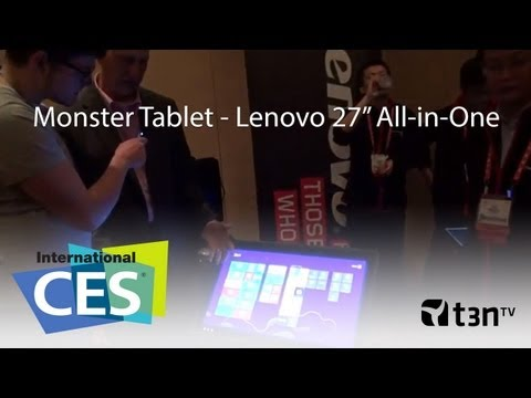 Lenovo IdeaCentre Horizon 27 Zoll All-in-One Monster Tablet mit Akku [CES 2013 - t3n TV]