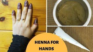 HOMEMADE HENNA FOR HANDS/DARK STAIN/MAKING MEHANDI CONE