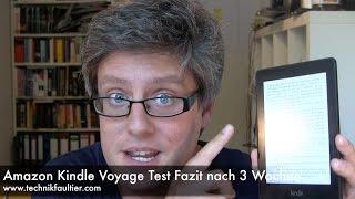 Amazon Kindle Voyage Test Fazit nach 3 Wochen