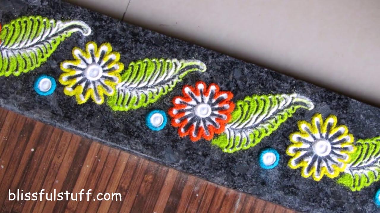 muggulu rangoli design easy patterns for beginners by poonam borkar