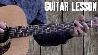 Bluegrass Rhythm Guitar – Beginner Guitar Lesson – Foggy Mountain Rock – Strumming and Walk-Ups