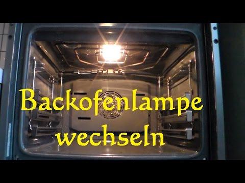 Backofenlampe selber wechseln - Glühbirne am Backofen ersetzen