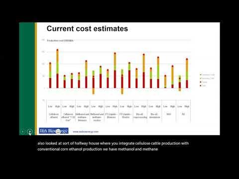 Webinar Bioenergía IEA: biocombustibles avanzados, potencial de reducción de costos