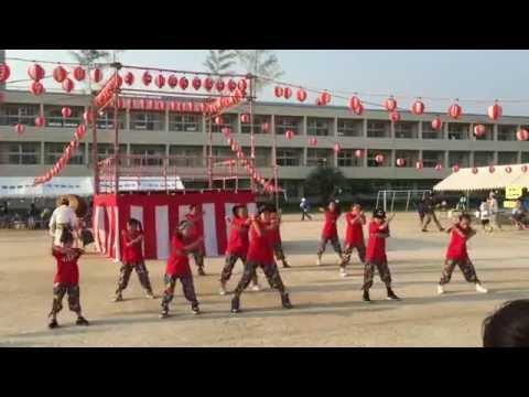 箕面市立豊川北小学校盆踊りby peeps 2015.8.1