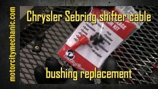 Chrysler sebring no crank no start most popular videos chrysler sebring shifter cable bushing replacement fandeluxe Images