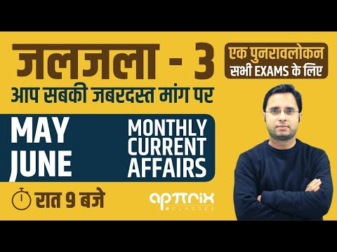 RRB NTPC Group D | जलजला - 3 ( May - June ) | Monthly Current Affairs by Rahul Mishra Sir