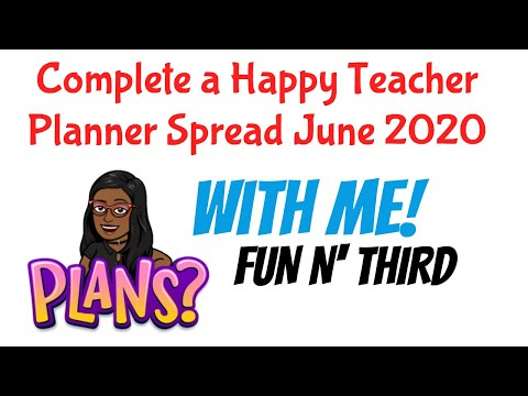Download PLAN WITH ME: TEACHER HAPPY PLANNER SPREAD JUNE 2020 Mp4 HD Video and MP3