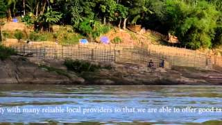 preview picture of video 'Dien Bien Phu, Vietnam to Muang Ngoi Neua, Laos by bus and boat'