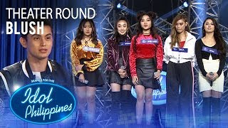 "Blush sings ""Shout Out To My Ex"" at Theater Round 