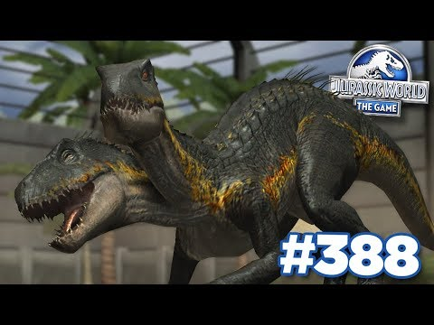 FUSING 2 INDORAPTORS TOGETHER!!!   Jurassic World - The Game - Ep388 HD