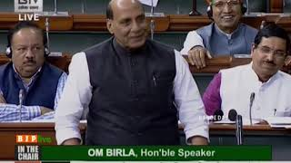 Defence Minister Rajnath Singh on the improved state of India against terrorism since 2014 in LS