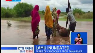 Two children have died and over 1500 families in Lamu county displaced by heavy floods