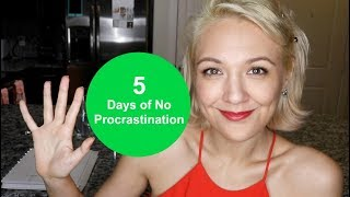 What Happened After 5 Days of No Procrastination