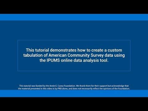 How to create a custom tabulation of American Community Survey data Video thumbnail